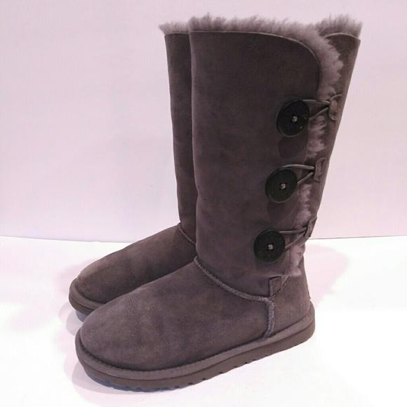 ugg shoes bailey button tall boots size 5 36 womens boot poshmark rh poshmark com